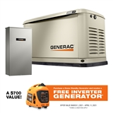 10/9KW GENERAC HOME STANDBY UNIT GENERATOR WITH AUTOMATIC TRANSFER SWITCH