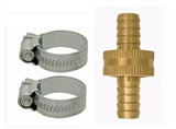 "3/4"" HOSE COUPLING WITH STAINLESS STEEL CLAMPS"