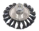 "MIBRO 4"" INDUSTRIAL KNOTTED BEVEL BRUSH WITH ADAPTER"