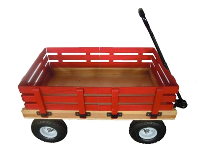 "20"" X 38"" HEAVY DUTY WOODEN WAGON"