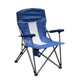 CHAIR FOLDING BLUE W/ CUP