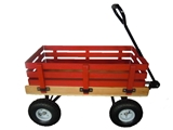 "16"" X 34"" WOODEN WAGON WITH RACKS"
