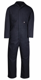 COVERALL L/S 42-TA   NAVY POLY