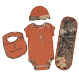 BROWNING BABY CAMO & ORANGE 12 MONTH SET