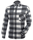 SHIRT 2X FLEECE BLACK CHECK