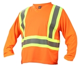 SAFETY LONG SLEEVE V-NECK T-SHIRTS
