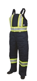 MEN'S HIGH VISIBILITY LINED OVERALLS