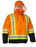 PARKA 2XL SAFETY 4 IN 1 ORNG