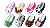 KIDS ASSORTED CRITTER SLIPPERS