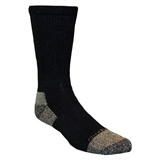 CARHARTT 2 PK ALL SEASON STEEL TOE COTTON WORK CREW SOCK- BLACK- LARGE
