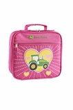 LUNCH BAG JD TRACTOR HEART PNK