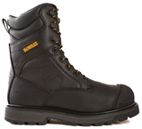 Impact Men 8 in. Size 8(M) Black Leather Aluminum Toe/ Composite Plate Work Boot