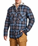 MEN'S QUILTED FLANNEL HOODED JACKETS