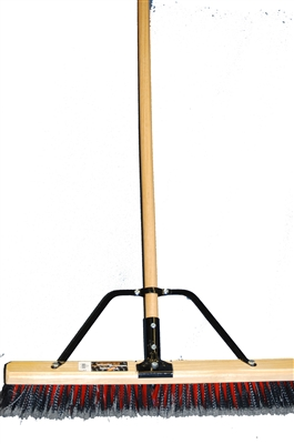 "24"" BRACED POLY PUSH BROOM"