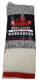SOCK MEN HG WOOL 3PK RED STRPE
