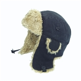 TOUGH DUCK BLACK AVIATOR CAP