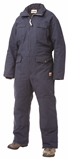 WORK KING LINED TWILL COVERALLS SIZE 2XL