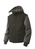 TOUGH DUCK ZIP-OFF SLEEVE JACKET WITH DETACHABLE HOOD MD