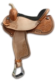"14"" BRAZILIAN BARREL SADDLE GOLDEN"