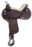 "14"" BRAZILIAN BARREL SADDLE DARK BROWN"