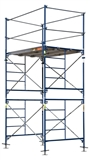 METALTECH 10' TALL CONSTRUCTION SCAFFOLD WITH LEVELING JACKS