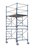 METALTECH 10' TALL CONSTRUCTION GRADE SCAFFOLD COMPLETE WITH CASTORS