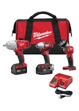 "M18 1/2"" HT IMPACT WRENCH, 3/8"" IMPACT WRENCH & WORKLIGHT COMBO KIT"