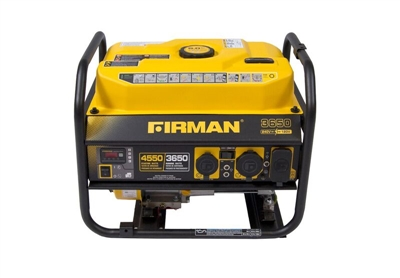 FIRMAN 4550/3650W DUAL VOLTAGE PORTABLE GAS POWERED GENERATOR