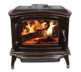 MAHOGANY CAST IRON WOODEN STOVE