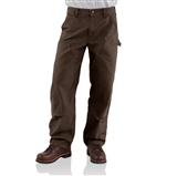 MEN'S WASHED DUCK DOUBLE FRONT DUNGAREE WORK PANTS