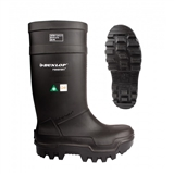 SIZE 14 DUNLOP THERMO BLACK SAFETY BOOTS