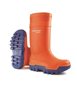 SIZE 10 DUNLOP THERMO ORANGE SAFETY BOOTS