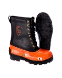 MEN'S BLACK TUSK CHAINSAW LEATHER SAFETY BOOTS