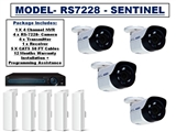 WIRELESS Camera- RS-7228- 4 CAMERA SYSTEM