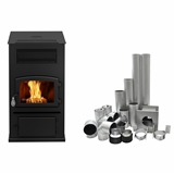 ECO-65 PELLET STOVE WITH BASEMENT VENTING KIT