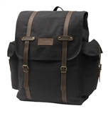 DAYPACK CANVAS LAPTOP BLK/BRN