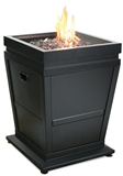 FIREPLACE LP BR OUTDOOR BLK