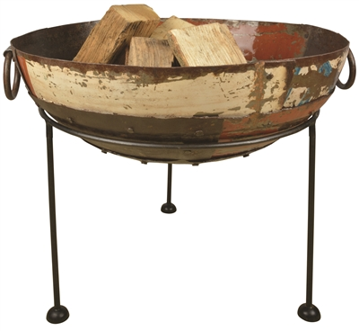 FIRE BOWL RECLAIMED METAL