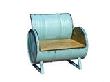 BLUE DRUM CHAIR
