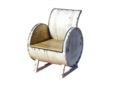 WHITE DRUM CHAIR