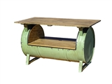 GREEN DRUM TABLE
