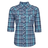 WOMEN'S SHORT SLEEVE PLAID WORK SHIRTS