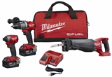 M18™ 18 Volt Lithium-Ion Brushless Cordless FUEL™ 3 Tool Combo Kit