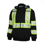 HOODIE HIGH VISIBILITY LINED