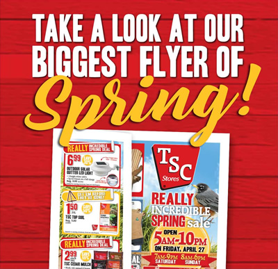 Take a look at our biggest flyer of Spring!
