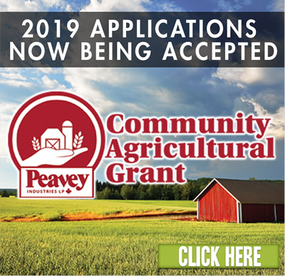 COMMUNITY AGRICULTURAL GRANT: 2019 applications now being accepted. Click here.
