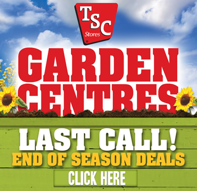 TSC GARDEN CENTRES: Last Call! End-of-season deals! Click here.