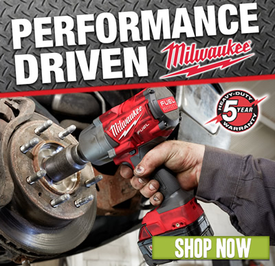 MILWAUKEE: Performance Driven. Shop now.