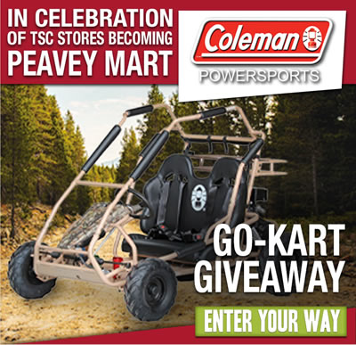 Coleman Powersports Go-Kart Giveaway - Learn More