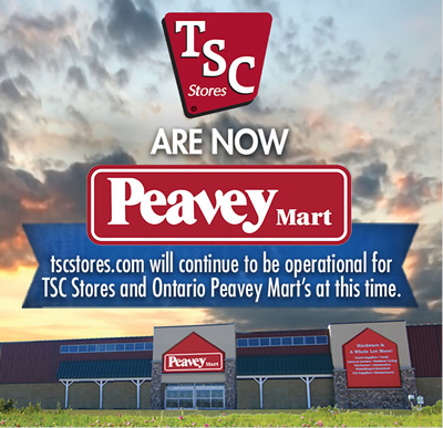 TSC Stores are now Peavey Mart